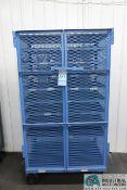 """24"""" X36"""" X 69"""" OVERALL HEIGHT MULTI-LEVEL TWO-DOOR WIRE MESH INSPECTION STORAGE CART"""