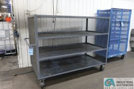 """36"""" X 72"""" X 57"""" OVERALL HEIGHT STANDARD EUQIPMENT MULTI-LEVEL OPEN FRONT WIRE MESH PARTS CART"""