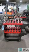 CAT 40 TAPER TOOLHOLDERS WITH HUOT TOOL SCOOT CART