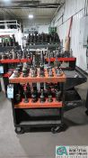 CAT 40 TAPER TOOLHOLDERS WITH HUOT TOOLSCOOT CART