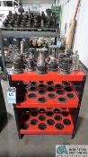 CAT 40 TAPER TOOLHOLDERS WITH HUOT STATIONARY TOOL TOWER