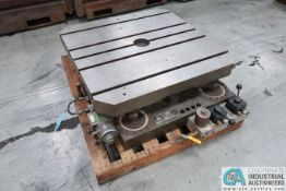 """**36"""" X 36"""" GIDDINGS AND LEWIS HYDROSTATIC LIFT ROTARY TABLE; S/N 040-4017 **LOCATED IN COLUMBIA"""