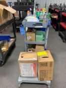 JANITORIAL CART W/ CLEANING SUPPLIES
