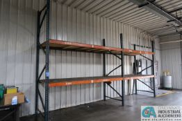 """SECTIONS 48"""" X 120"""" X 120"""" HIGH ADJUSTABLE BEAM WOOD DECKING PALLET RACK, (1) UPRIGHT 12' HIGH"""