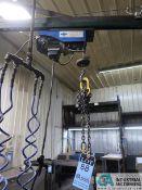 200 KG / 440 LB X 10' ARM FLOOR MOUNTED JIB CRANE WITH PENDANT CONTROL CABLE HOIST