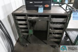10-DRAWER TOOLING CART AND CONTENTS WITH MISCELLANEOUS COLLETS