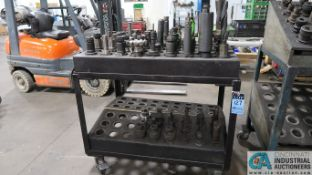 CAT 50 TAPER TOOLHOLDERS WITH CART