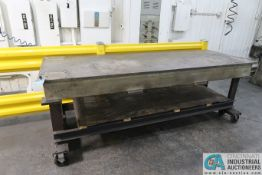 """36"""" X 102"""" X 37-1/2"""" HIGH X 1"""" THICK STEEL TOP PLATE SUPREME DUTY WELDED PORTABLE STEEL TABLE"""