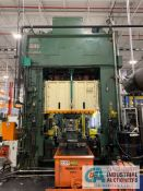"**600 TON BLISS SE2-600-72X48 STRAIGHTSIDE DOUBLE CRANK PRESS; PRESS 300086, S/N 1, 16"" STROKE, 38"""