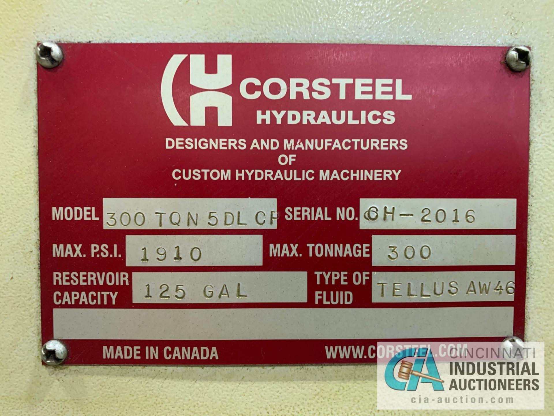"""Lot 13 - 300 TON CORSTEEL MODEL 300 TQN-5DL-CP 5-PLATTEN HEATED PRESS; S/N CH-2016, 1,910 MAX PSI, 27"""" X"""
