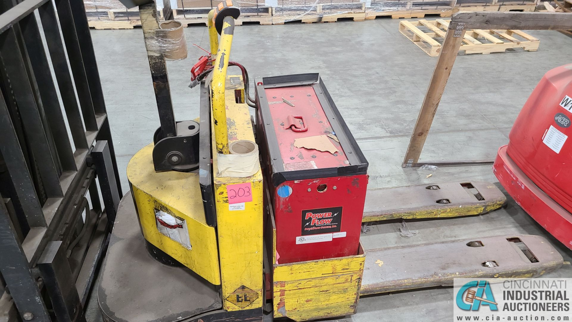 PRIME MODEL HMX65 ELECTRIC PALLET TRUCK; S/N HMX6535055003, W/ BATTERY, 153 HOURS (2570 ORCHARD - Image 2 of 4