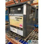 24-VOLT QUANTUM MODEL 12Q450B2A BATTERY CHARGER; S/N 98454197 (5400 OAKLEY INDUSTRIAL BLVD.,
