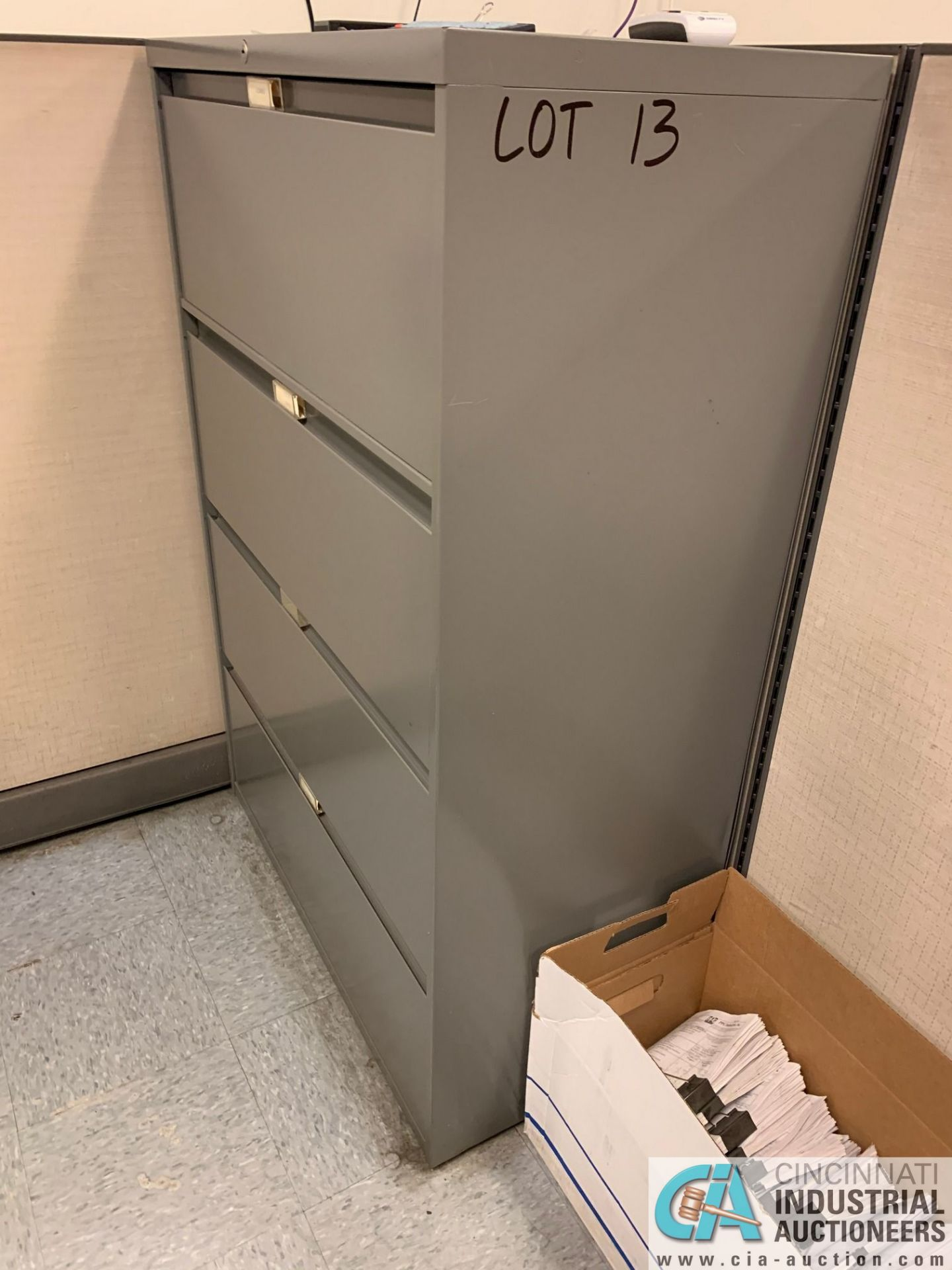 FOUR-DRAWER STEELCASE LATERAL FILE CABINETS (NO CONTENTS) (5400 OAKLEY INDUSTRIAL BLVD., FAIRBURN, - Image 8 of 9