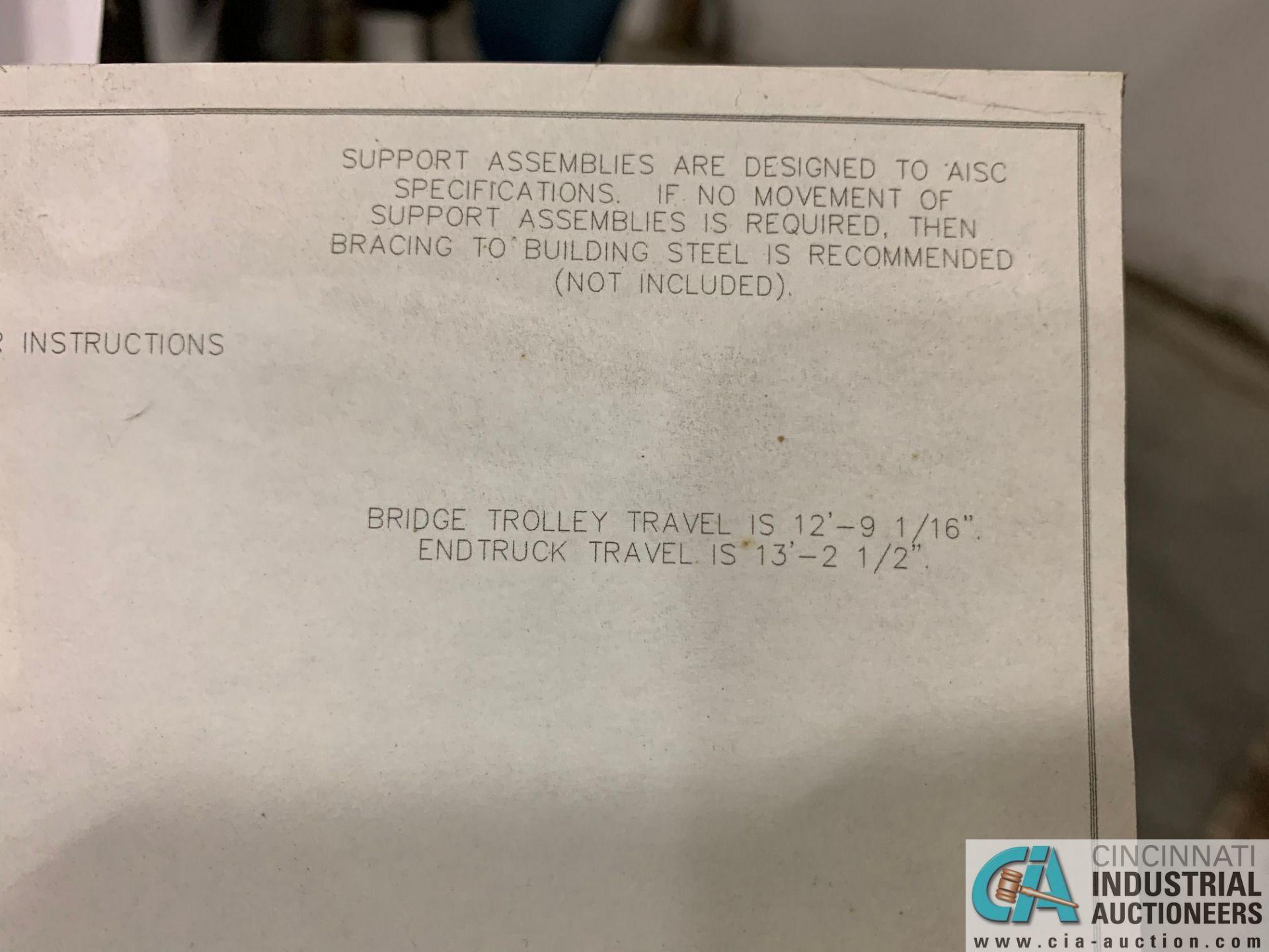 200 LB. GORBEL MODEL GLCS-FS-250-15-15-12 FREE-STANDING CRANE SYSTEM; 15' BRIDGE OAL, 15' RUNWAY - Image 15 of 15