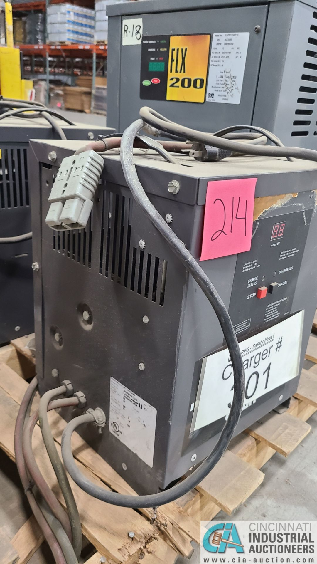 24-VOLT BATTERY BUILDERS MODEL 12A6060000A1ZEUK BATTERY CHARGER; S/N 02X9426-11 (2570 ORCHARD - Image 2 of 4