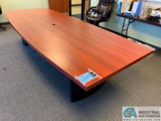 10' X 4' EXECUTIVE CONFERENCE TABLE (NO CHAIRS) (5400 OAKLEY INDUSTRIAL BLVD., FAIRBURN, GA 30213)