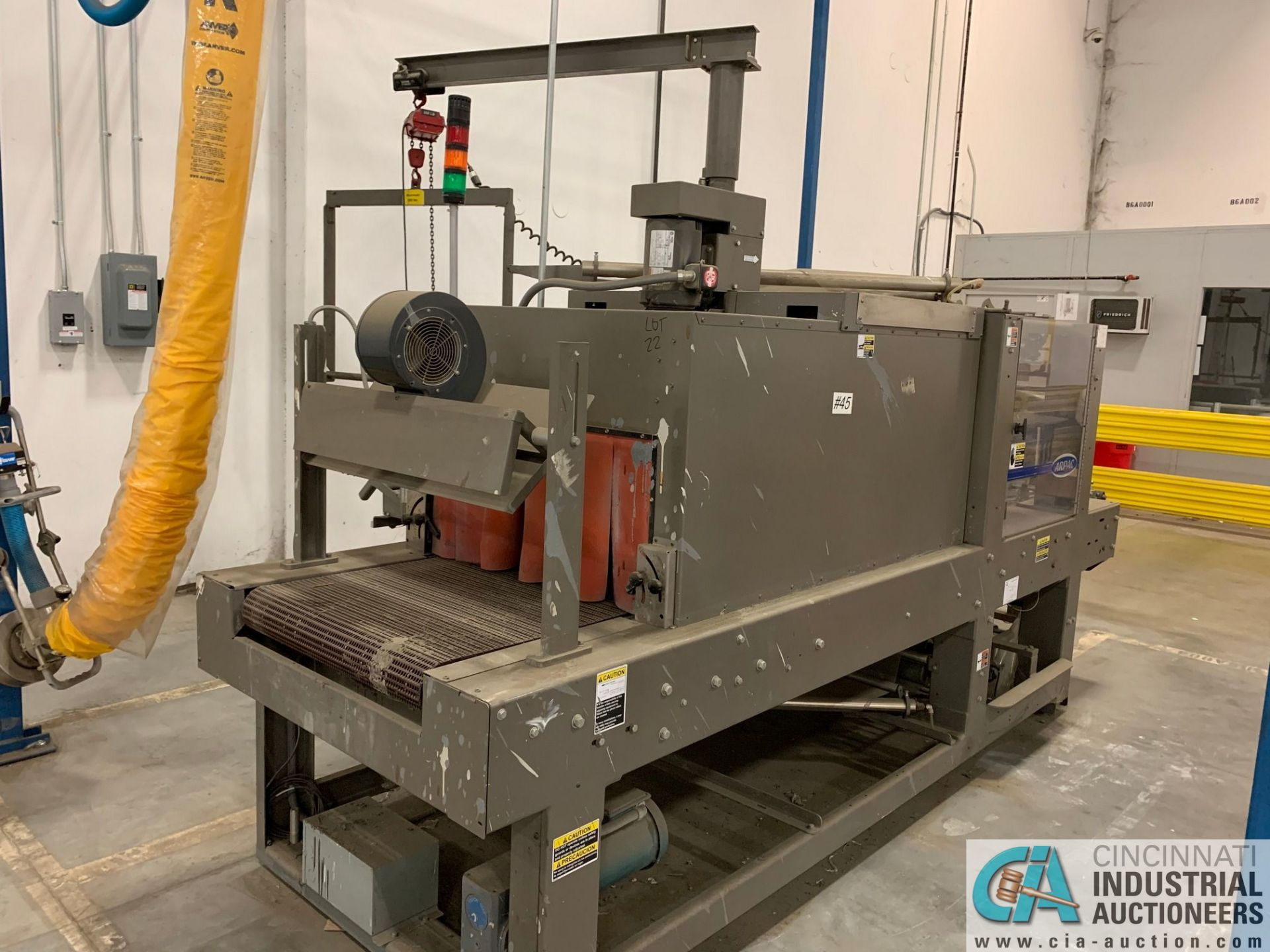 "ARPAC MODEL 25TW-28 SHRINK WRAPPER / HEAT TUNNEL; S/N 11489, HEIGHT RANGE: 4"" - 12"", LENGTH (FLOW - Image 10 of 19"