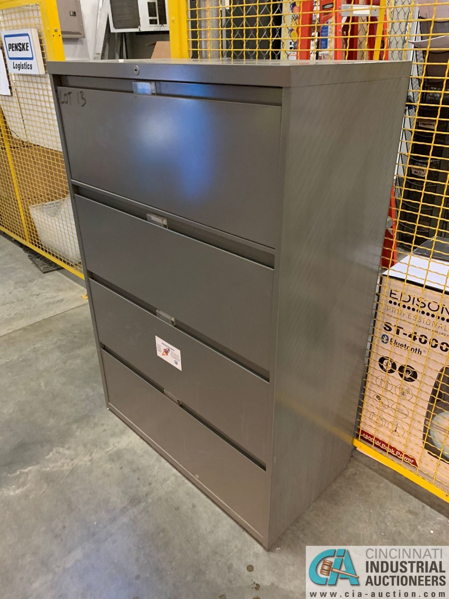 FOUR-DRAWER STEELCASE LATERAL FILE CABINETS (NO CONTENTS) (5400 OAKLEY INDUSTRIAL BLVD., FAIRBURN, - Image 4 of 9