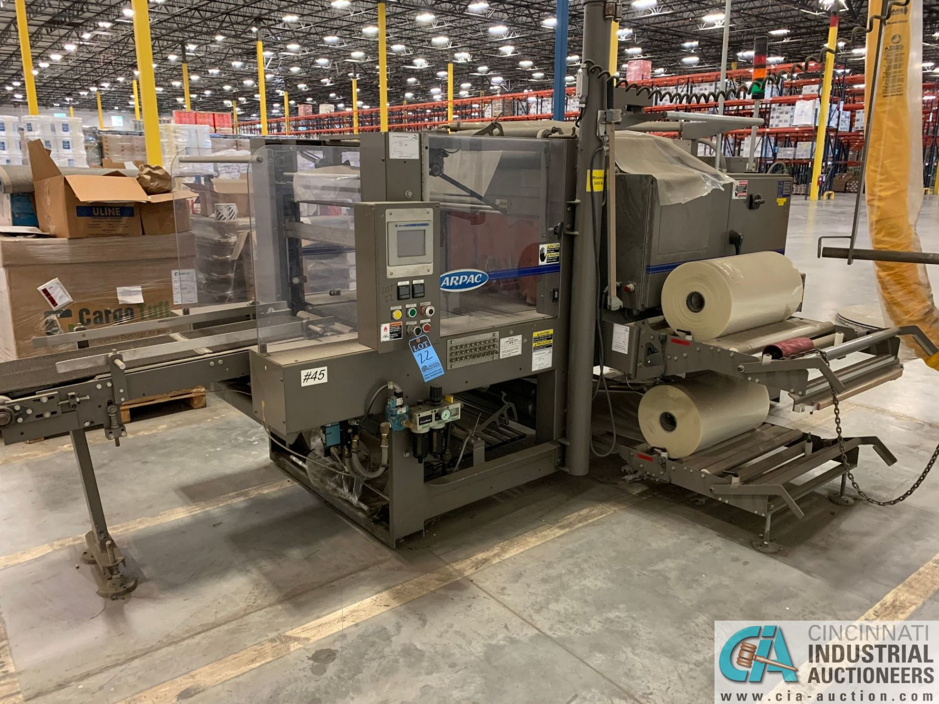 "ARPAC MODEL 25TW-28 SHRINK WRAPPER / HEAT TUNNEL; S/N 11489, HEIGHT RANGE: 4"" - 12"", LENGTH (FLOW"