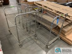 2' X 3' PORTABLE METAL CARTS (5400 OAKLEY INDUSTRIAL BLVD., FAIRBURN, GA 30213)