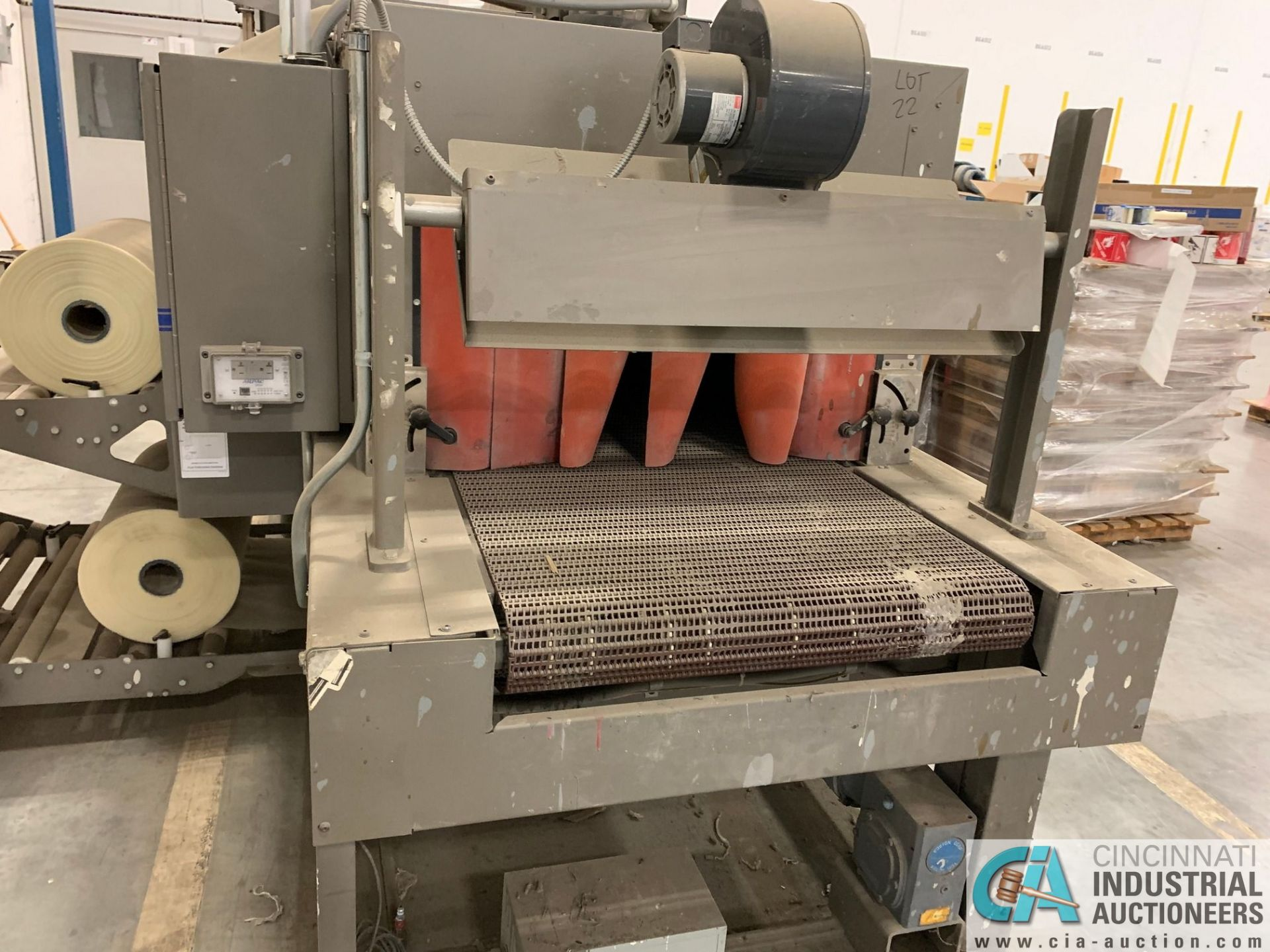 "ARPAC MODEL 25TW-28 SHRINK WRAPPER / HEAT TUNNEL; S/N 11489, HEIGHT RANGE: 4"" - 12"", LENGTH (FLOW - Image 7 of 19"