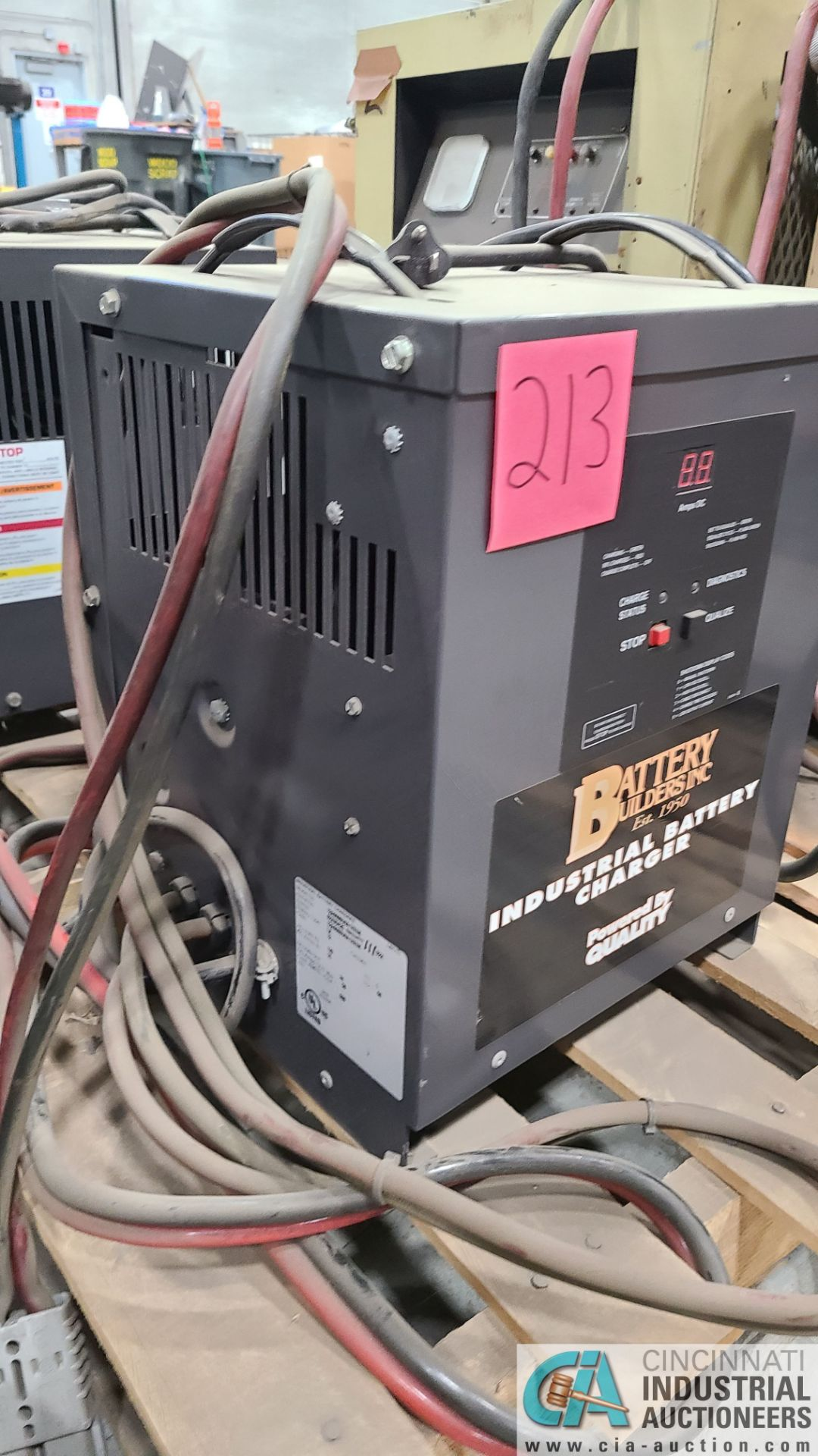 24-VOLT BATTERY BUILDERS MODEL 12A6060000A1ZEUK BATTERY CHARGER; S/N 02X9426-111 (2570 ORCHARD - Image 2 of 4