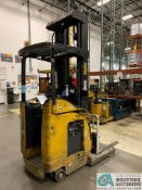"4,500 LB. YALE MODEL NR045EANS36TE119 ELECTRIC REACH TRUCK; S/N C861N01989E, 272"" MAX LIFT HEIGHT,"