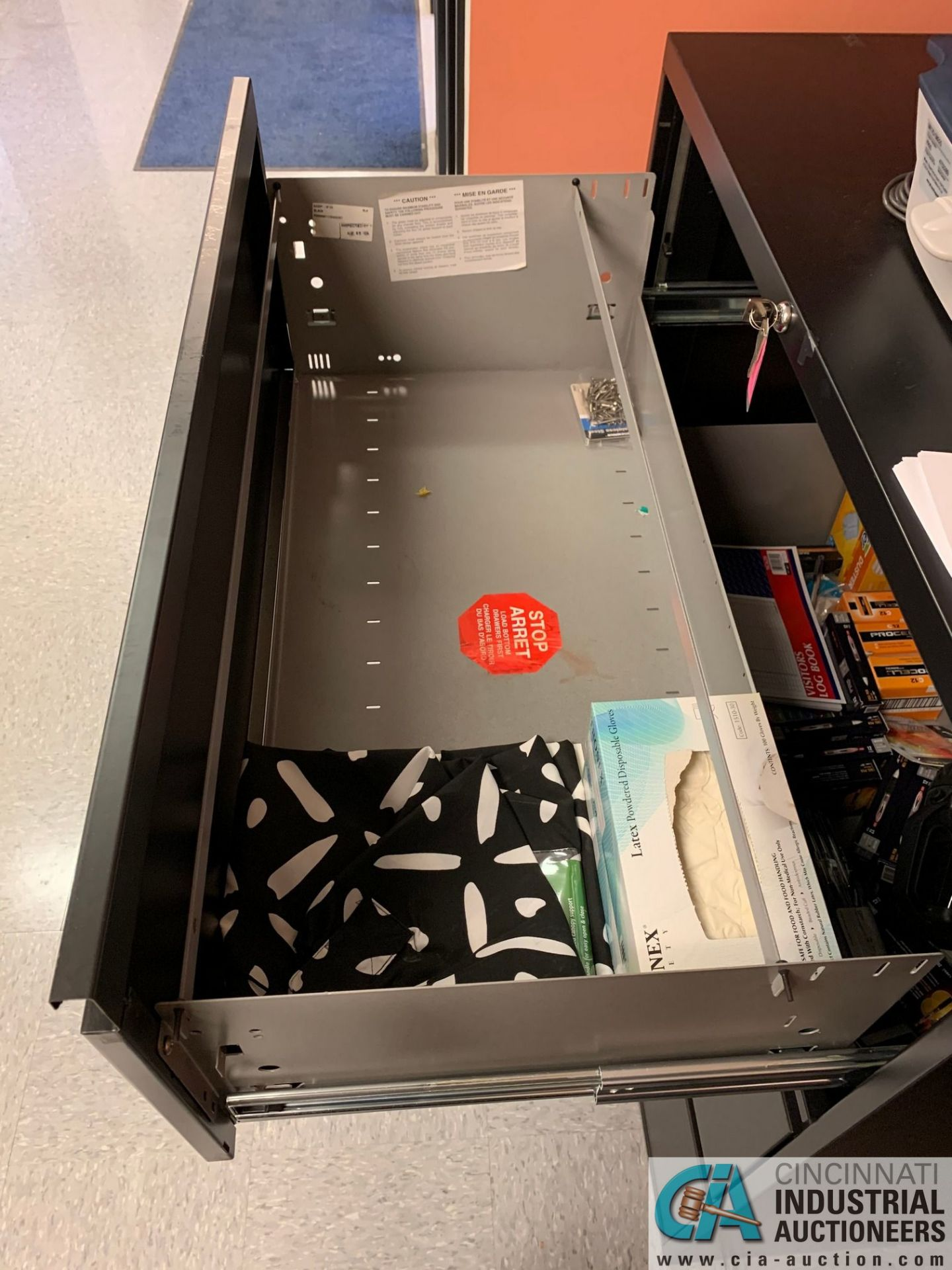 THREE-DRAWER LATERAL FILE CABINET (NO CONTENTS) (5400 OAKLEY INDUSTRIAL BLVD., FAIRBURN, GA 30213) - Image 3 of 3