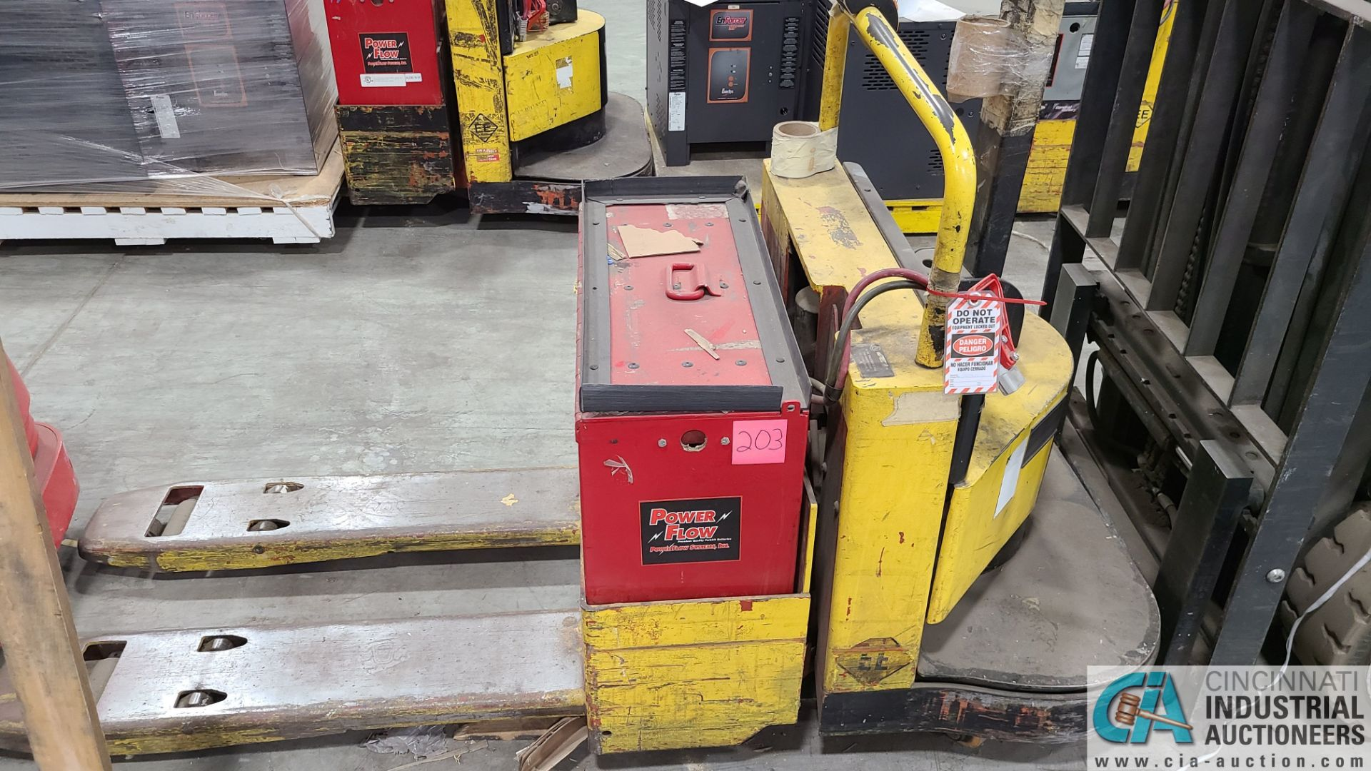 PRIME MODEL HMX65 ELECTRIC PALLET TRUCK; S/N HMX6535055003, W/ BATTERY, 153 HOURS (2570 ORCHARD - Image 3 of 4