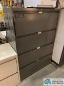 FOUR-DRAWER STEELCASE LATERAL FILE CABINETS (NO CONTENTS) (5400 OAKLEY INDUSTRIAL BLVD., FAIRBURN,