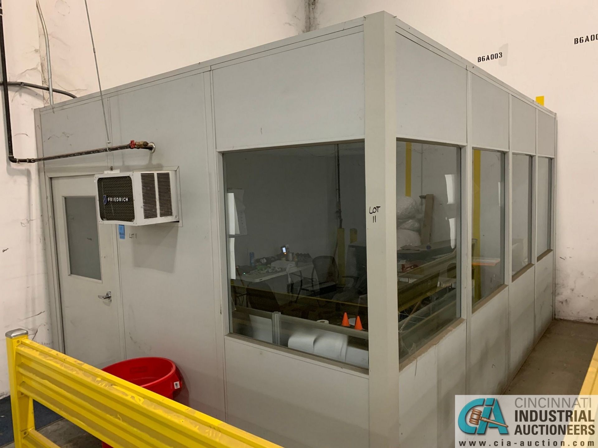 """192 SQ. FT. MODULAR OFFICE #2 (INTERNATIONAL); 12' X 16' INSIDE, 110"""" OUTSIDE HEIGHT (NO CONTENTS ("""
