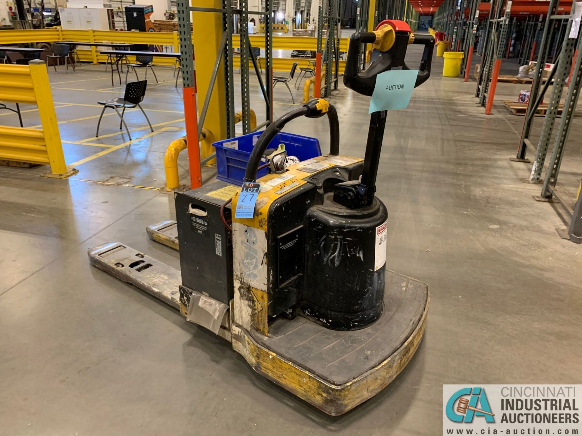 "8,000 LB. YALE MODEL MPE080LFN24T2742 ELECTRIC PALLET TRUCK; S/N B890N02210F, 42"" FORKS, W/ 24- - Image 2 of 5"