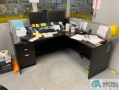 EXECUTIVE L-SHAPED DESK (NO CONTENTS) (5400 OAKLEY INDUSTRIAL BLVD., FAIRBURN, GA 30213)