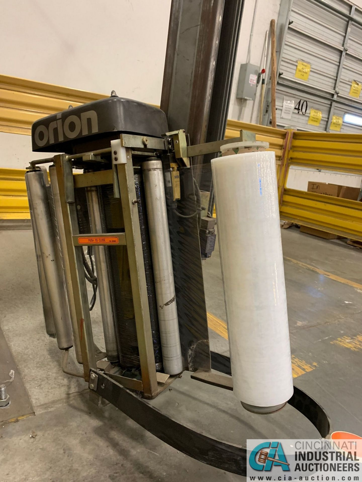 ORION M67/17IS SWING ARM STRETCH WRAPPING MACHINE; S/N 2006-0015989, 115-VOLTS, 15-AMPS, 60-HZ, 1- - Image 3 of 8
