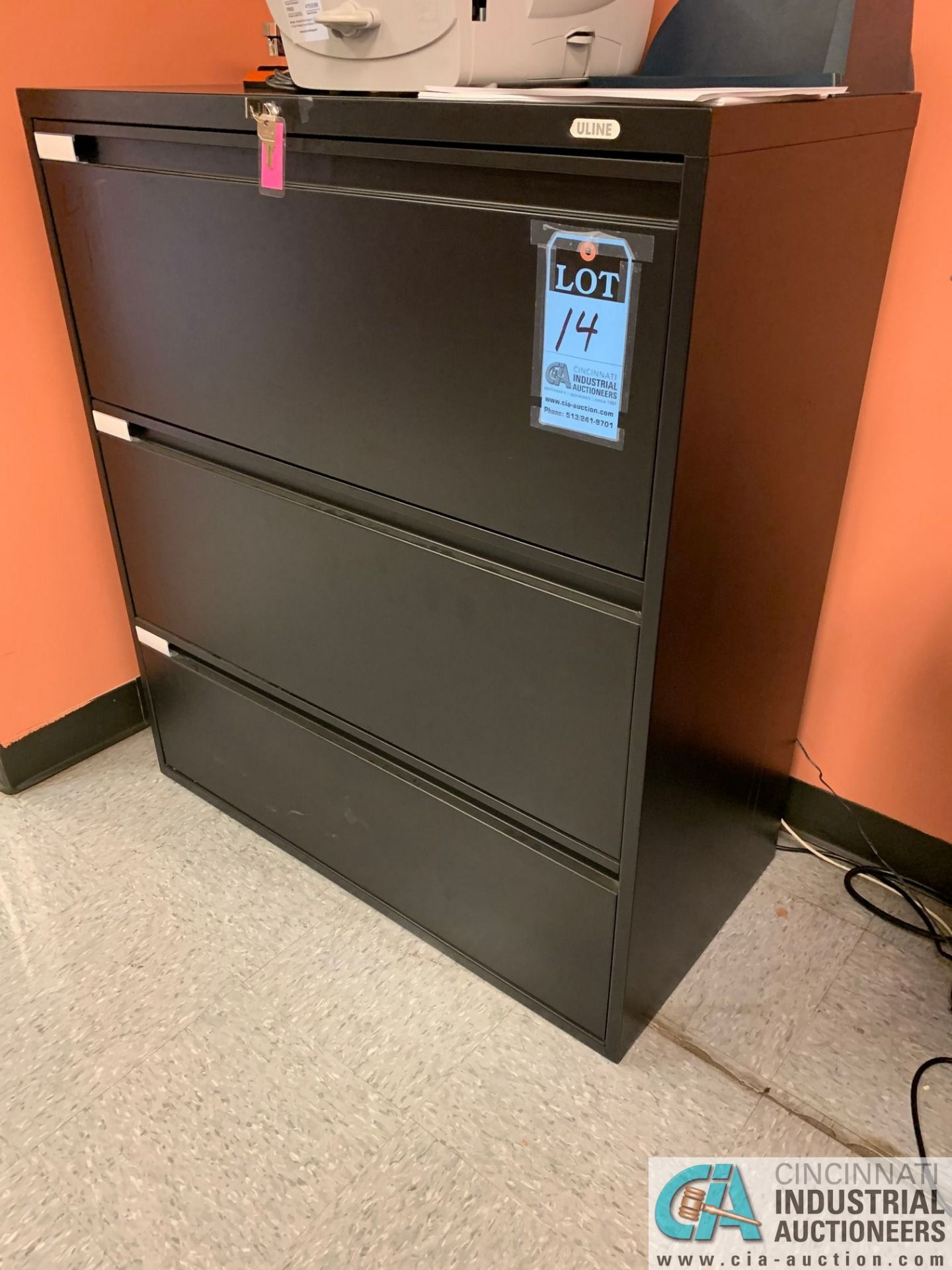 THREE-DRAWER LATERAL FILE CABINET (NO CONTENTS) (5400 OAKLEY INDUSTRIAL BLVD., FAIRBURN, GA 30213)