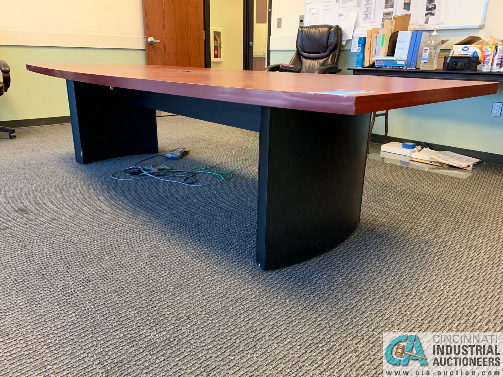 10' X 4' EXECUTIVE CONFERENCE TABLE (NO CHAIRS) (5400 OAKLEY INDUSTRIAL BLVD., FAIRBURN, GA 30213) - Image 2 of 4