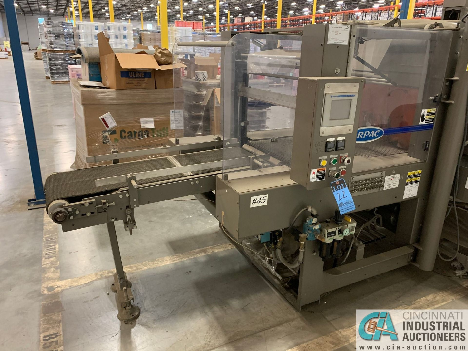 "ARPAC MODEL 25TW-28 SHRINK WRAPPER / HEAT TUNNEL; S/N 11489, HEIGHT RANGE: 4"" - 12"", LENGTH (FLOW - Image 2 of 19"