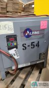 24-VOLT ALPINE MODEL XPT12-600B PF20 BATTERY CHARGER; S/N AT295700011 (2570 ORCHARD GATEWAY BLVD.,
