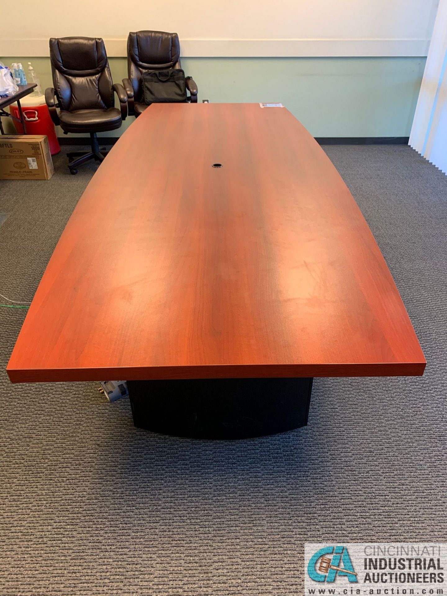 10' X 4' EXECUTIVE CONFERENCE TABLE (NO CHAIRS) (5400 OAKLEY INDUSTRIAL BLVD., FAIRBURN, GA 30213) - Image 3 of 4