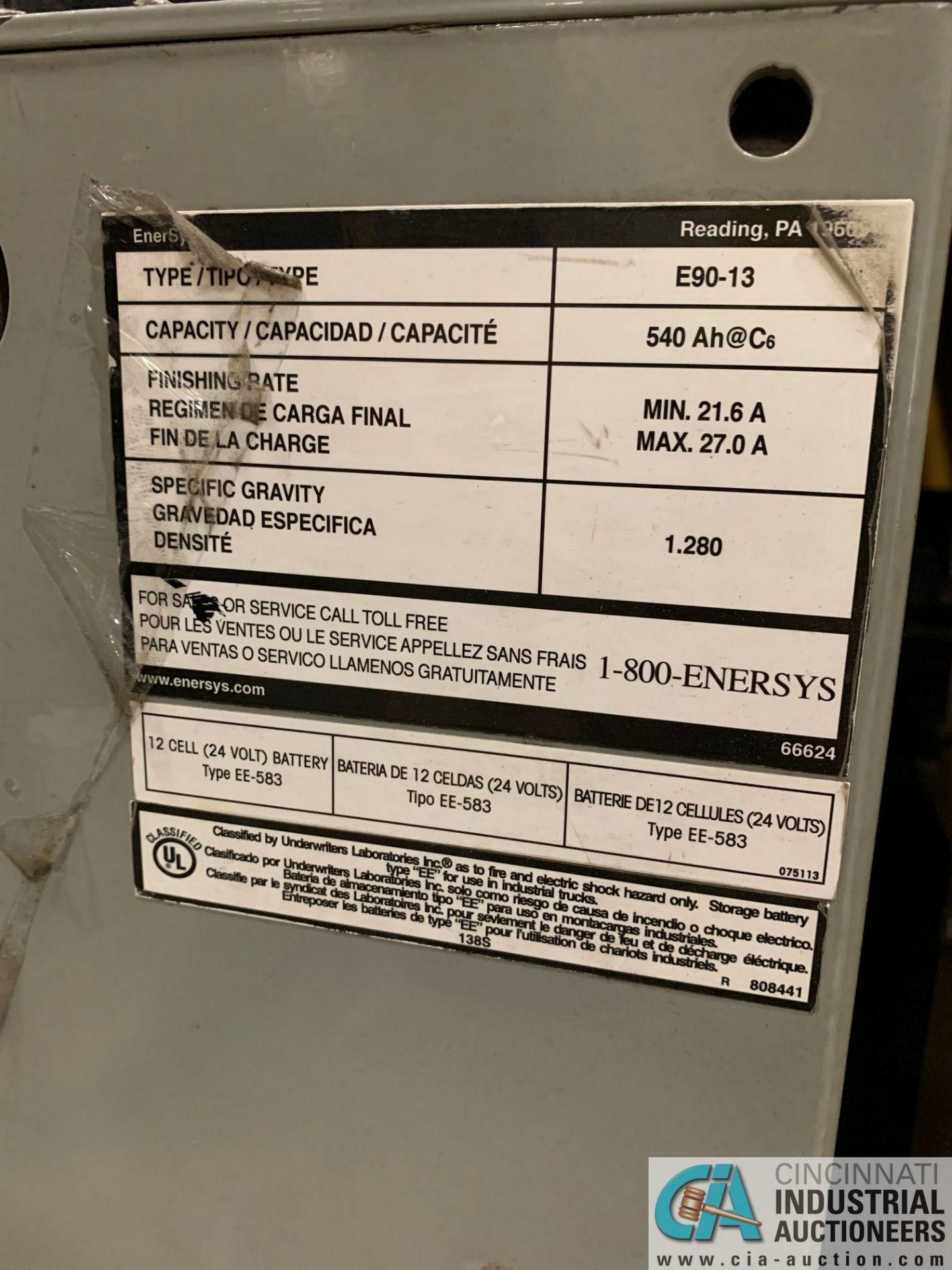 "6,000 LB. YALE MODEL MPE060LVGN27T2742 ELECTRIC PALLET TRUCK; S/N B292N02916P, 42"" FORKS, W/ 24-VOLT - Image 9 of 9"