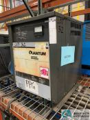 24-VOLT QUANTUM MODEL 12Q450B2A BATTERY CHARGER; S/N 98454200 (5400 OAKLEY INDUSTRIAL BLVD.,