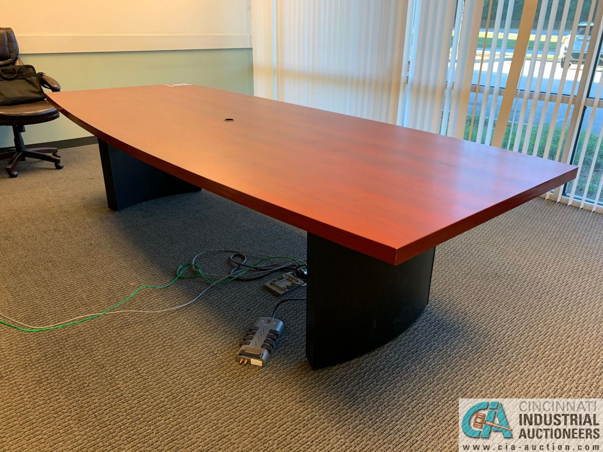 10' X 4' EXECUTIVE CONFERENCE TABLE (NO CHAIRS) (5400 OAKLEY INDUSTRIAL BLVD., FAIRBURN, GA 30213) - Image 4 of 4