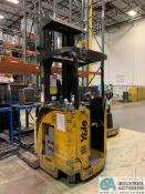 "4,500 LB. YALE MODEL NR045EANS36TE119 ELECTRIC REACH TRUCK; S/N C861N02032E, 272"" MAX LIFT HEIGHT,"