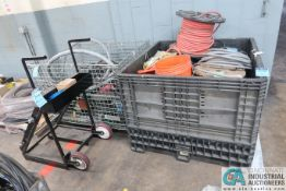 (LOT) (2) GAYLORDS WIRE & WIRE CART