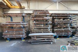 (LOT) VARIOUS SIZE ANG GAUGE SHEET STEEL STOCK, APPROX. 565 SHEETS **See last photos for an update