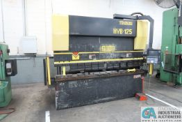 "125 TON X 118"" TOYOKOKI HYB-125 CNC PRESS BRAKE; S/N 7003657, BACK GAGE (2004)"