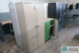 MISC. TWO-DOOR STEEL CABINETS