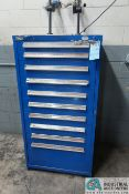 """10-DRAWER LISTA WITH (160) PRESS BRAKE DIES AND PUNCHES, 1/2"""" - 16"""""""