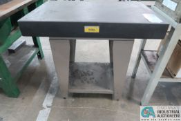 """36"""" X 24"""" X 4"""" DOALL GRANITE SURFACE PLATE W/ STAND"""