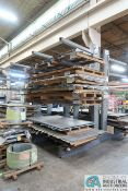 """SECTION 65"""" WIDE X 60"""" ARM X 144"""" HIGH HEAVY DUTY STEEL SINGLE SIDED CANTILEVER RACK"""